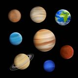 Planets in the Solar System Royalty Free Stock Photos