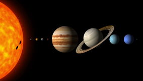 The Planets of the Solar System By Order stock video