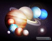 Planets of the solar system. Vector Stock Photo