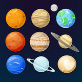 Planets of the solar system, vector illustration Royalty Free Stock Images