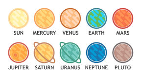 Planets of Solar System Stock Photo