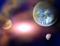 Planets in a space. Stock Photos