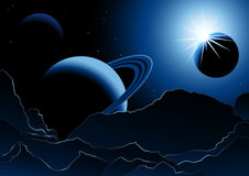 Planets_in_space Royalty Free Stock Photos