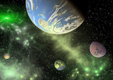 Planets in a space. Stock Images