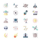 Planets In Space and Universe Galaxy Icons Stock Photo