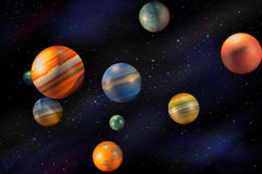 Planets in space universe royalty free stock image