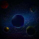 Planets in space. Vector illustration of the five planets in space Royalty Free Stock Photography