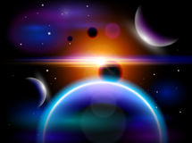 Planets, stars, constellations, nebulae & galaxies Stock Photo