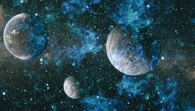 Planets, stars and galaxies in outer space showing the beauty of space exploration. Elements furnished by NASA Stock Image