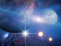 Planets and suns Royalty Free Stock Image
