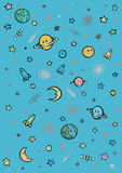 Planets and universe wallpaper Stock Image