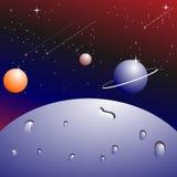 Planetsaturnus Arkivfoto