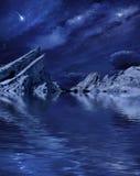 Planetscape Lake stock photo