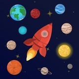 planetsolsystem stock illustrationer