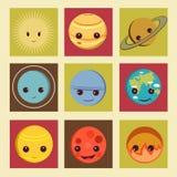 Planetsymbol Vektor Illustrationer