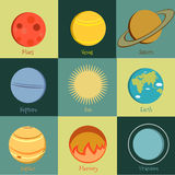 Planetsymbol 2 royaltyfri illustrationer