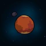 Planetsymbolsdesign Arkivfoto