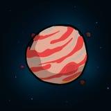 Planetsymbolsdesign Fotografering för Bildbyråer