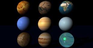 planetuje univers Obrazy Royalty Free