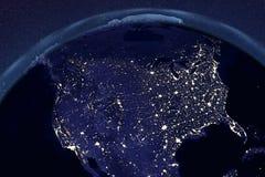 Planetuje ziemię od astronautycznego pokazuje usa i Kanada ilustracja wektor