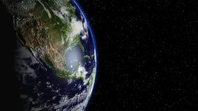 Planetuje ziemię w, ziemię i galaxy w mgławicy chmurach wszechświacie lub przestrzeni, Obrazy Stock