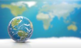 Planetuje ziemię z chmurami, Północna Ameryka i Ameryka Południowa, 3D-Ill Zdjęcia Royalty Free
