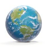 Planetuje ziemię z chmurami, Północna Ameryka i Ameryka Południowa, 3D-Ill Fotografia Royalty Free