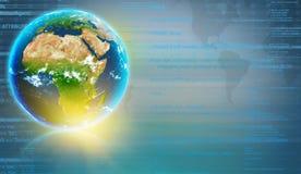 Planetuje ziemię z kontynentem Afryka i Obraz Stock