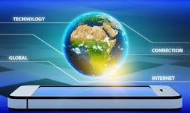 Planetuje ziemię z kontynentem Afryka na a Obraz Royalty Free