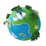 Planetvärld 3D Royaltyfri Foto