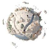 planetvinter för tecknad film 3D Arkivbild