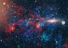 Planety, gwiazdy i galaxies w kosmosie pokazuje piękno eksploracja przestrzeni kosmicznej, Elementy meblujący NASA - Wizerunek fotografia stock