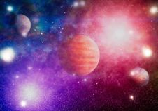 Planety, gwiazdy i galaxies w kosmosie pokazuje piękno eksploracja przestrzeni kosmicznej, Elementy meblujący NASA - Wizerunek obraz royalty free