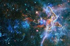 Planety, gwiazdy i galaxies w kosmosie pokazuje piękno eksploracja przestrzeni kosmicznej, Elementy meblujący NASA - Wizerunek zdjęcie stock