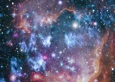 Planety, gwiazdy i galaxies w kosmosie pokazuje piękno eksploracja przestrzeni kosmicznej, Elementy meblujący NASA - Wizerunek obraz stock