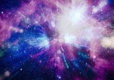 Planety, gwiazdy i galaxies w kosmosie pokazuje piękno eksploracja przestrzeni kosmicznej, Elementy meblujący NASA - Wizerunek ilustracja wektor