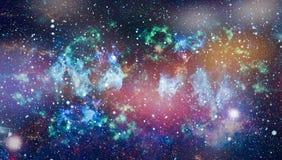 Planety, gwiazdy i galaxies w kosmosie pokazuje piękno eksploracja przestrzeni kosmicznej, Elementy meblujący NASA zdjęcia royalty free