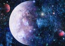 Planety, gwiazdy i galaxies w kosmosie pokazuje piękno eksploracja przestrzeni kosmicznej, Elementy meblujący NASA ilustracji