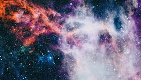Planety, gwiazdy i galaxies w kosmosie pokazuje piękno eksploracja przestrzeni kosmicznej, Elementy meblujący NASA zdjęcie royalty free