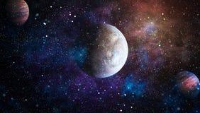 Planety, gwiazdy i galaxies w kosmosie pokazuje piękno eksploracja przestrzeni kosmicznej, Elementy meblujący NASA obraz royalty free