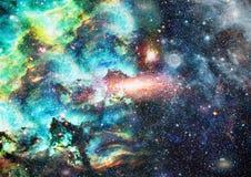 Planety, gwiazdy i galaxies w kosmosie pokazuje piękno eksploracja przestrzeni kosmicznej, Elementy meblujący NASA ilustracja wektor