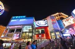 Planety Hollywood kurort & kasyno, punkt zwrotny, obszar wielkomiejski, noc, metropolia Zdjęcie Royalty Free