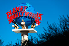 Planety Hollywood kurortu znak na Las Vegas pasku Zdjęcia Stock