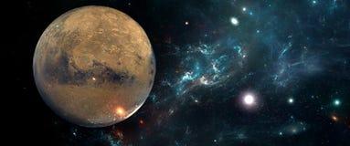 Planety i galaxies, nauki fikci tapeta Piękno głęboka przestrzeń Fotografia Stock