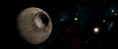 Planety i galaxies, nauki fikci tapeta Piękno głęboka przestrzeń Obrazy Stock