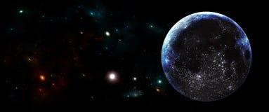 Planety i galaxies, nauki fikci tapeta Piękno głęboka przestrzeń Fotografia Royalty Free