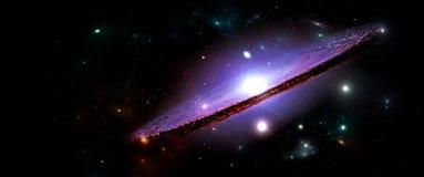 Planety i galaxies, nauki fikci tapeta Piękno głęboka przestrzeń Obraz Stock