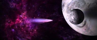 Planety i galaxies, nauki fikci tapeta Piękno głęboka przestrzeń Obraz Royalty Free