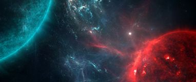 Planety i galaxies, nauki fikci tapeta Piękno głęboka przestrzeń Zdjęcie Stock