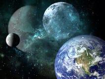 Planety i galaxy, nauki fikci tapeta ilustracji